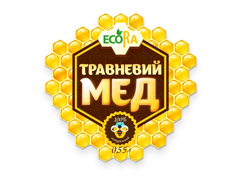 Разработка стикера для банки меда