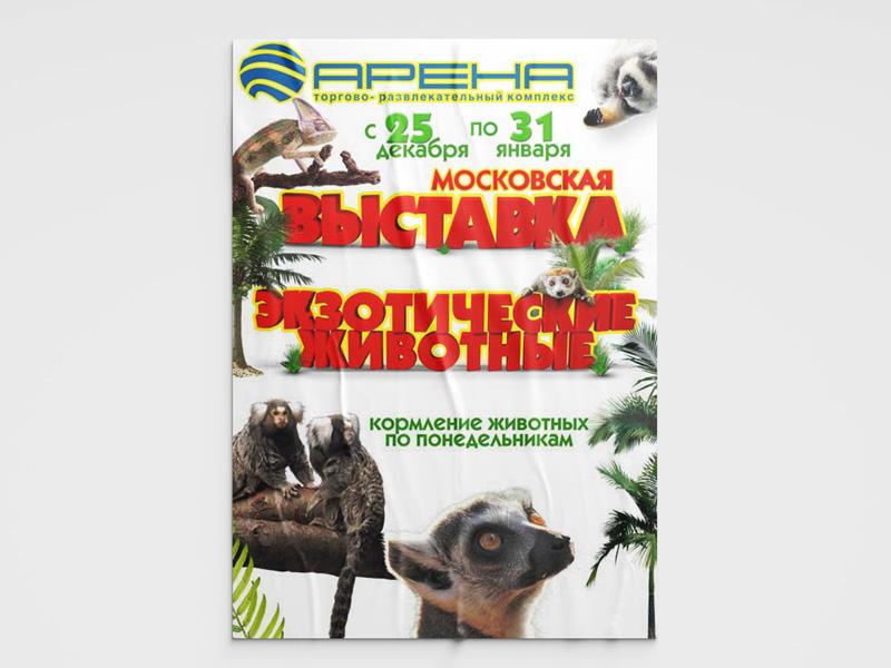 Дизайн афиши выставки животных