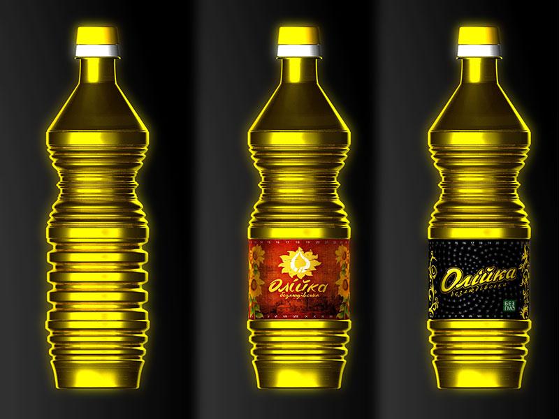 Дизайн бутылки масло Олейка