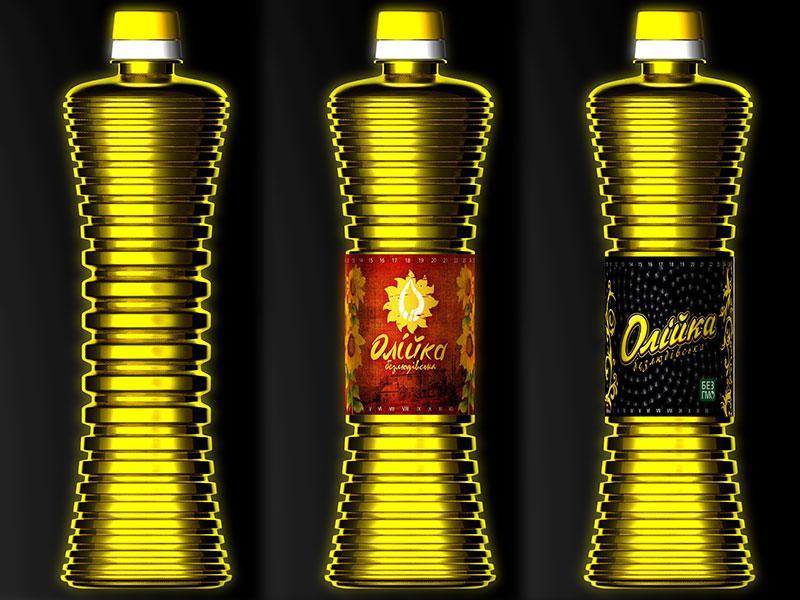 Дизайн тары масло Олейка