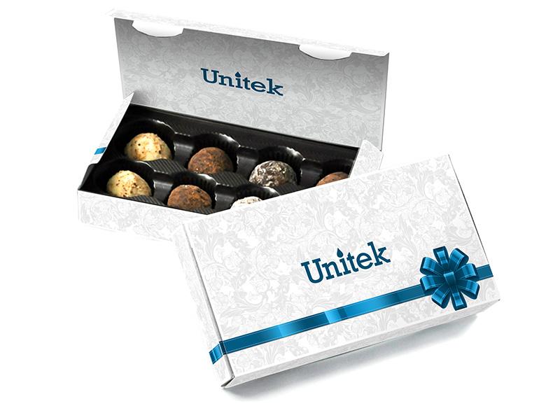 Дизайн подарочной коробки конфет Unitek