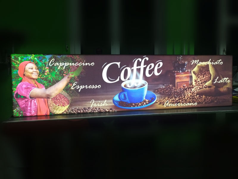 Лайтбокс кофе для интерьера