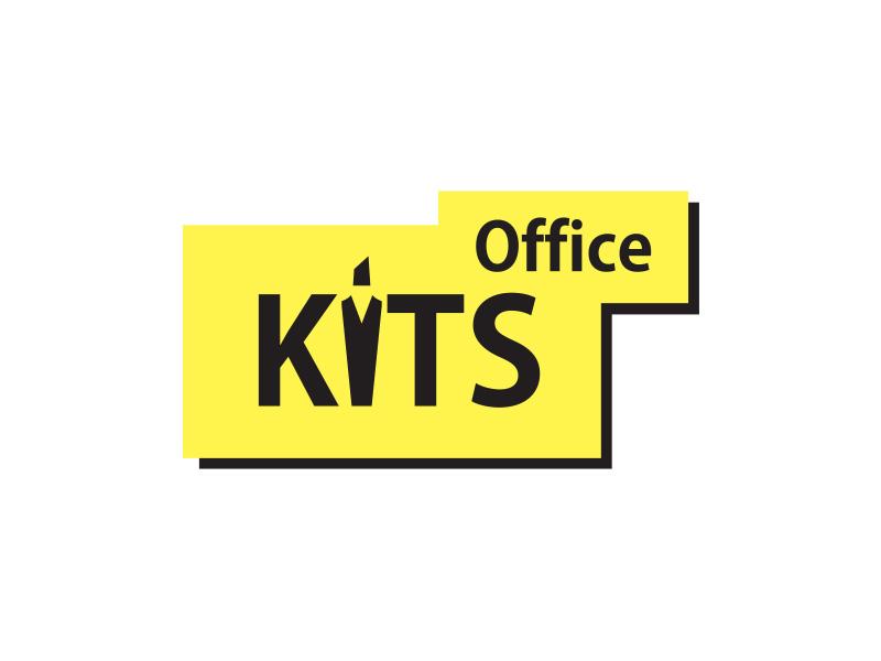 Логотип KITS office сеть магазинов канцтоваров
